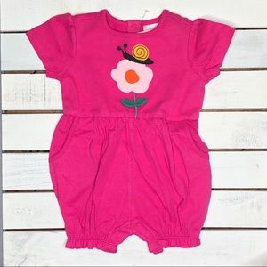 NWT Hanna Andersson discover sueded Jersey romper